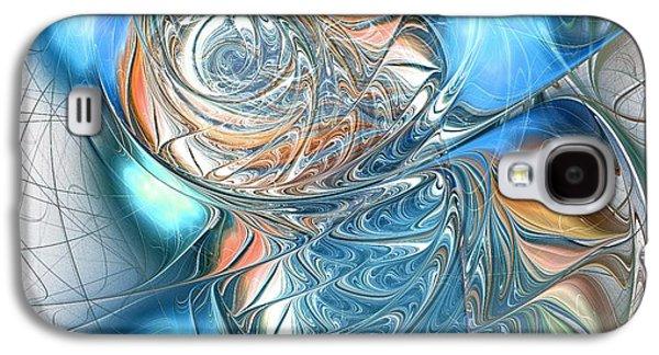 Blue Glass Fish Galaxy S4 Case by Anastasiya Malakhova