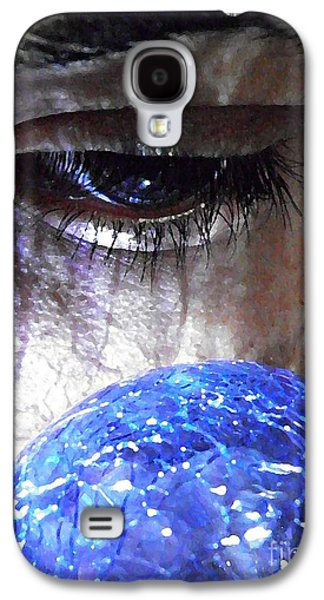 Young Man Photographs Galaxy S4 Cases - Blue Glass World Galaxy S4 Case by Sarah Loft