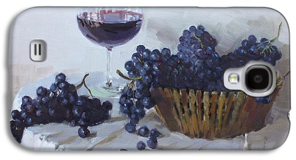 Blue Grapes And Wine Galaxy S4 Case by Ylli Haruni