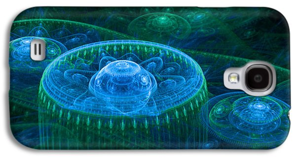 Blue Green Fantasy Landscape Galaxy S4 Case by Martin Capek