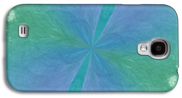 Becky Digital Art Galaxy S4 Cases - Blue Green Kaleidoscope Texture Galaxy S4 Case by Becky Hayes