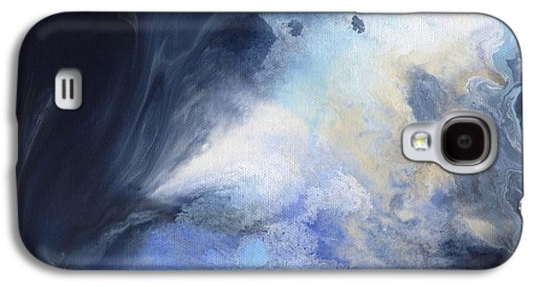 Abstract Digital Paintings Galaxy S4 Cases - Blue Heavens Galaxy S4 Case by Jamie Frier