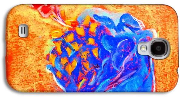 Drawing Galaxy S4 Cases - Blue Hibiscus Galaxy S4 Case by Sue Jacobi