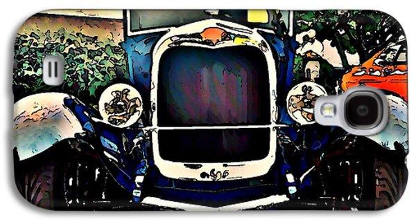 Car Hod Galaxy S4 Cases - Blue Hot Rod Galaxy S4 Case by Stanley  Funk