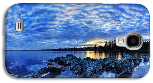 Maine Winter Galaxy S4 Cases - Blue Ice at Sunset Galaxy S4 Case by Bill Caldwell -        ABeautifulSky Photography