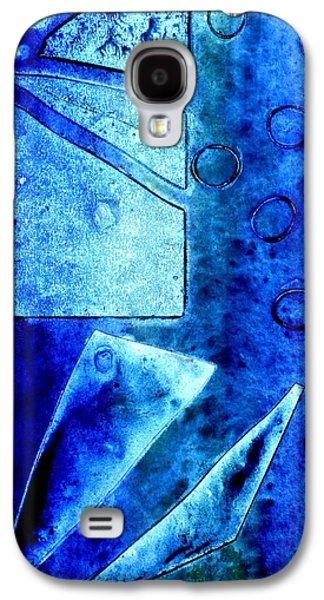 Abstract Movement Mixed Media Galaxy S4 Cases - Blue   II Galaxy S4 Case by John  Nolan