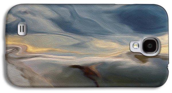 Abstract Digital Art Galaxy S4 Cases - Blue Galaxy S4 Case by Jack Zulli