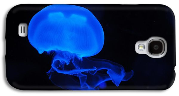Invertebrates Mixed Media Galaxy S4 Cases - Blue Jelly Fish Galaxy S4 Case by FL collection