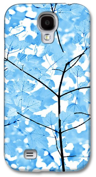 Botanical Galaxy S4 Cases - Blue Leaves Melody Galaxy S4 Case by Jennie Marie Schell