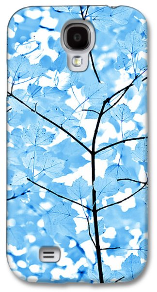 Blue Leaves Melody Galaxy S4 Case by Jennie Marie Schell