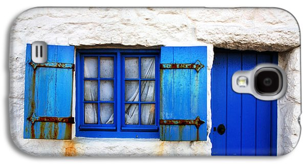 Urban Buildings Galaxy S4 Cases - Blue Galaxy S4 Case by Mark Rogan