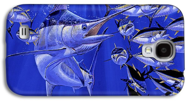 Marlin Galaxy S4 Cases - Blue marlin round up Off0031 Galaxy S4 Case by Carey Chen