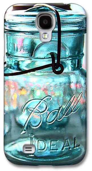Mason Jars Galaxy S4 Cases - Blue Mason Jars Galaxy S4 Case by Elizabeth Budd