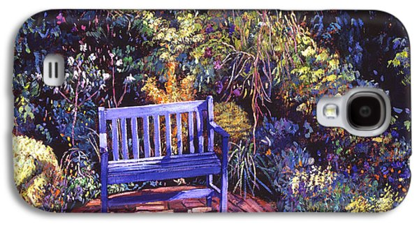 Terra Paintings Galaxy S4 Cases - Blue Meeting Chair Galaxy S4 Case by David Lloyd Glover