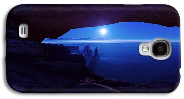 Moonrise Galaxy S4 Cases - Blue Mesa Arch Galaxy S4 Case by Chad Dutson
