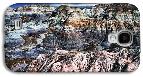 Blue Mesa - Painted Desert Galaxy S4 Case by Bob and Nadine Johnston