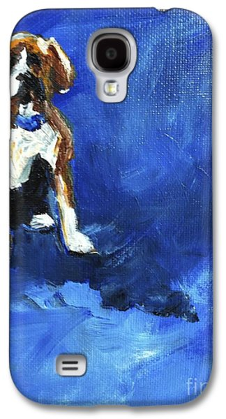 Boxer Paintings Galaxy S4 Cases - Blue Monday Galaxy S4 Case by Maria