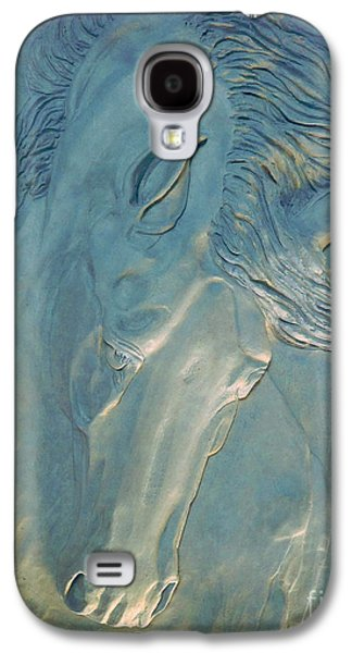 Abstract Nature Reliefs Galaxy S4 Cases - Blue Monday Galaxy S4 Case by Suzette Kallen