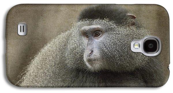Jeff Swanson Galaxy S4 Cases - Blue Monkey Galaxy S4 Case by Jeff Swanson