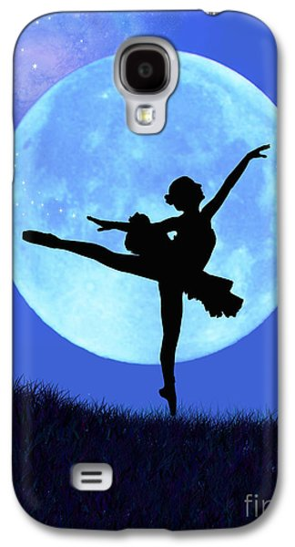 Ballet Dancers Digital Art Galaxy S4 Cases - Blue Moon Ballerina Galaxy S4 Case by Alixandra Mullins