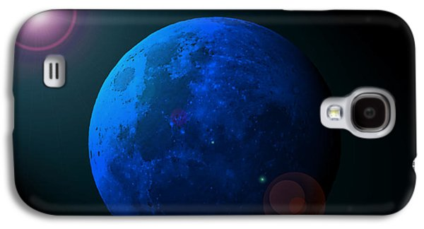 Man In The Moon Galaxy S4 Cases - Blue Moon Digital Art Galaxy S4 Case by Al Powell Photography USA