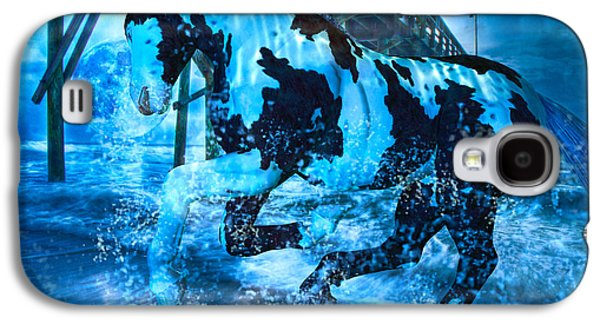 Animation Galaxy S4 Cases - Blue Moon Galaxy S4 Case by Betsy A  Cutler