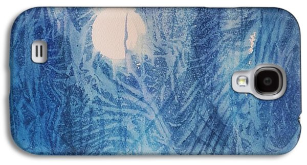 Abstract Nature Galaxy S4 Cases - Blue Moon Galaxy S4 Case by Ellen Levinson