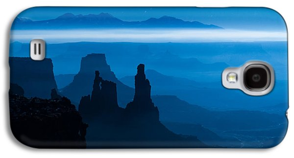 Southern Utah Galaxy S4 Cases - Blue Moon Mesa Galaxy S4 Case by Dustin  LeFevre