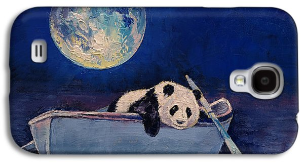Sadness Paintings Galaxy S4 Cases - Blue Moon Galaxy S4 Case by Michael Creese