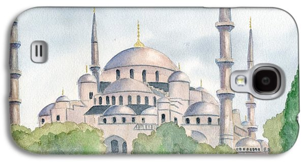 Istanbul Galaxy S4 Cases - Blue Mosque Galaxy S4 Case by Marsha Elliott