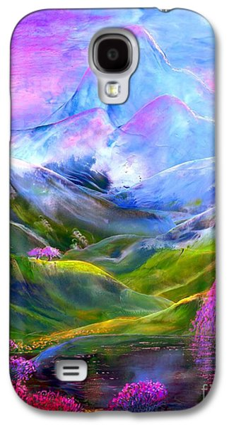 Field Paintings Galaxy S4 Cases - Blue Mountain Pool Galaxy S4 Case by Jane Small