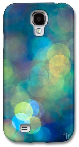 Blue Abstracts Galaxy S4 Cases - Blue of the Night Galaxy S4 Case by Jan Bickerton