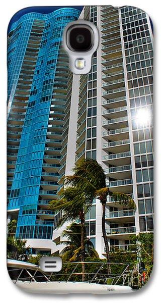 Aqua Condominiums Galaxy S4 Cases - Blue on blue Galaxy S4 Case by Claudia Mottram