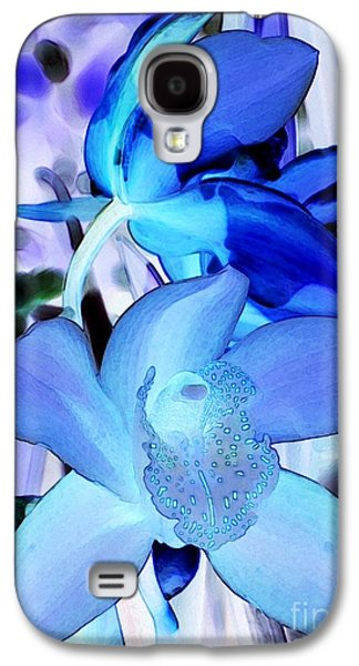 Bloosom Galaxy S4 Cases - Blue Orchids Galaxy S4 Case by Kathleen Struckle