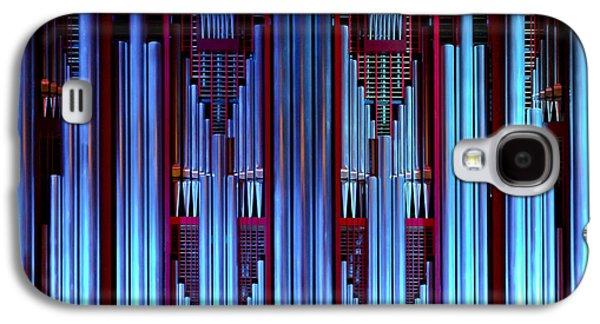 Aotearoa Galaxy S4 Cases - Blue organ pipes Galaxy S4 Case by Jenny Setchell
