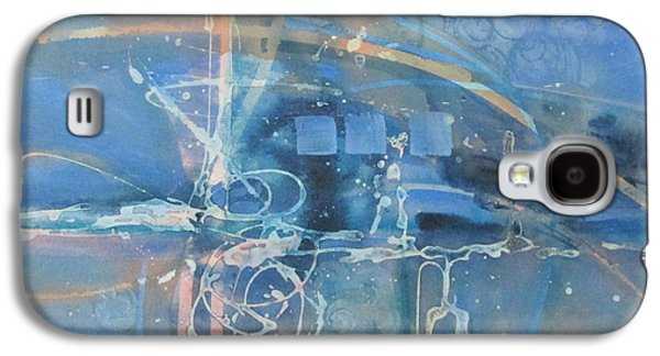 Curvilinear Paintings Galaxy S4 Cases - Blue peace Galaxy S4 Case by Patricia Mayhew Hamm