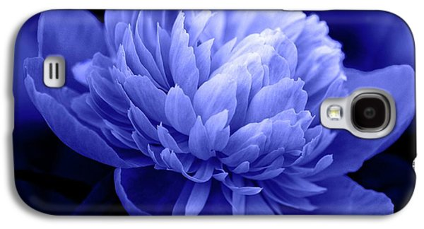 Indiana Flowers Galaxy S4 Cases - Blue Peony Galaxy S4 Case by Sandy Keeton