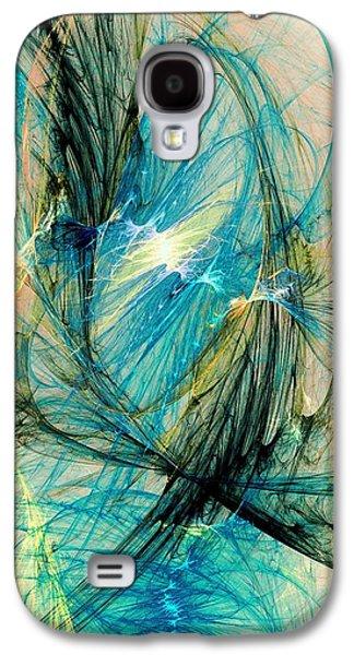 Flame Galaxy S4 Cases - Blue Phoenix Galaxy S4 Case by Anastasiya Malakhova