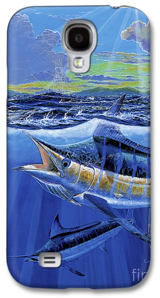 Striped Marlin Galaxy S4 Cases - Blue Pitcher Off00115 Galaxy S4 Case by Carey Chen