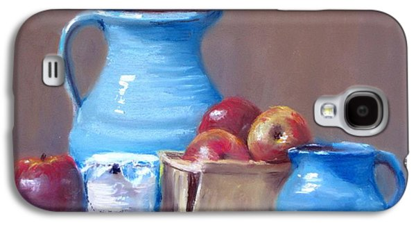 Jack Skinner Galaxy S4 Cases - Blue Pitchers and Apples Galaxy S4 Case by Jack Skinner