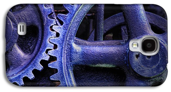 Machinery Galaxy S4 Cases - Blue Power Galaxy S4 Case by David and Carol Kelly