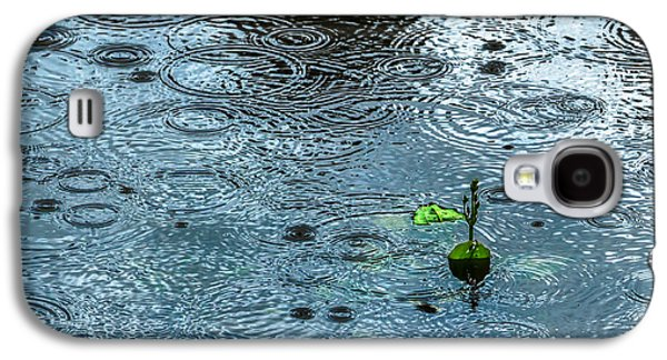 Blue Rain - Featured 3 Galaxy S4 Case by Alexander Senin