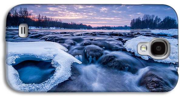 Blue Galaxy S4 Cases - Blue rapids Galaxy S4 Case by Davorin Mance
