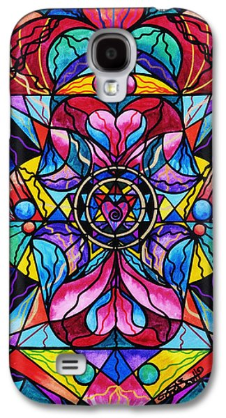 Image Paintings Galaxy S4 Cases - Blue Ray Healing Galaxy S4 Case by Teal Eye  Print Store