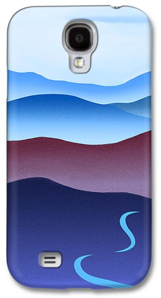 Catherine White Paintings Galaxy S4 Cases - Blue Ridge Blue Road Galaxy S4 Case by Catherine Twomey
