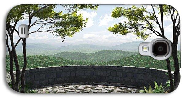 Asheville Galaxy S4 Cases - Blue Ridge Galaxy S4 Case by Cynthia Decker