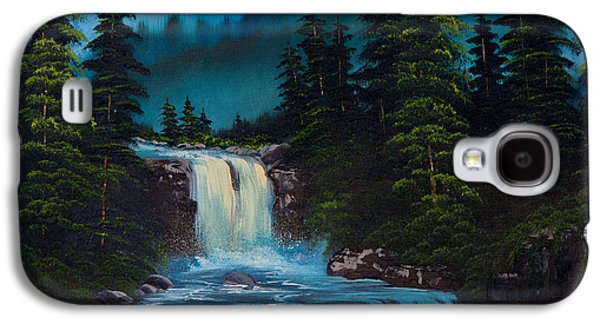 Recently Sold -  - Bob Ross Paintings Galaxy S4 Cases - Mountain Falls Galaxy S4 Case by C Steele