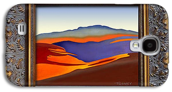Catherine White Paintings Galaxy S4 Cases - Blue Ridge Mountains East Fall Framed Signed Giclee Galaxy S4 Case by Catherine Twomey
