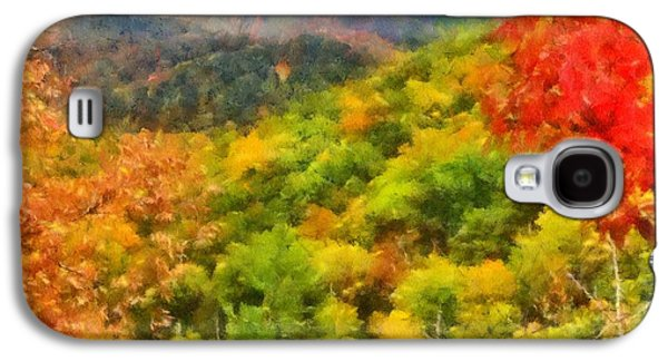 Blue Ridge Mountains Fall Color Galaxy S4 Case by Dan Sproul