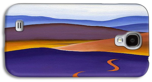 Nature Abstracts Galaxy S4 Cases - Blue Ridge Orange Mountains Sky and Road in Fall Galaxy S4 Case by Catherine Twomey